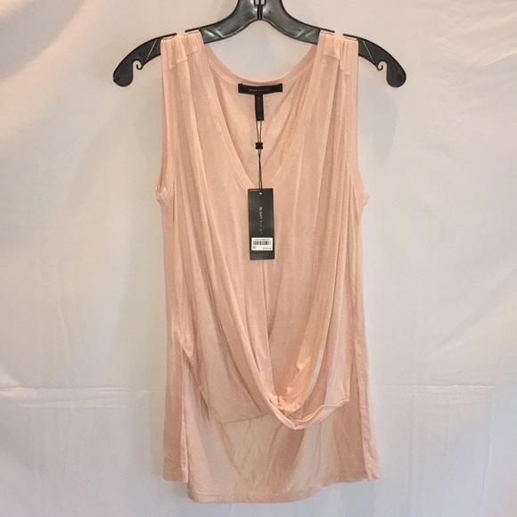 "BCBGMaxAzria Tops - NWT BCBGMaxAzria ""Bare Pink"" Small Draping Shirt"